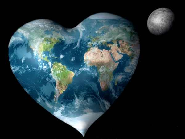 our heart shaped world